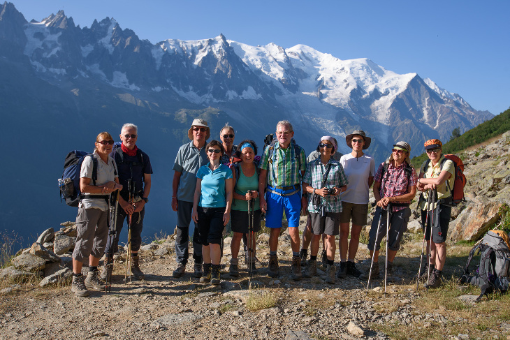 vor dem Mont Blanc