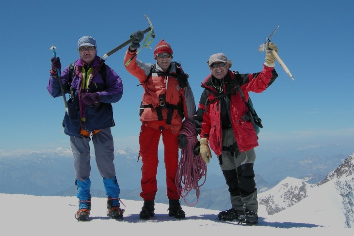 on top of the Signalkuppe 4554m