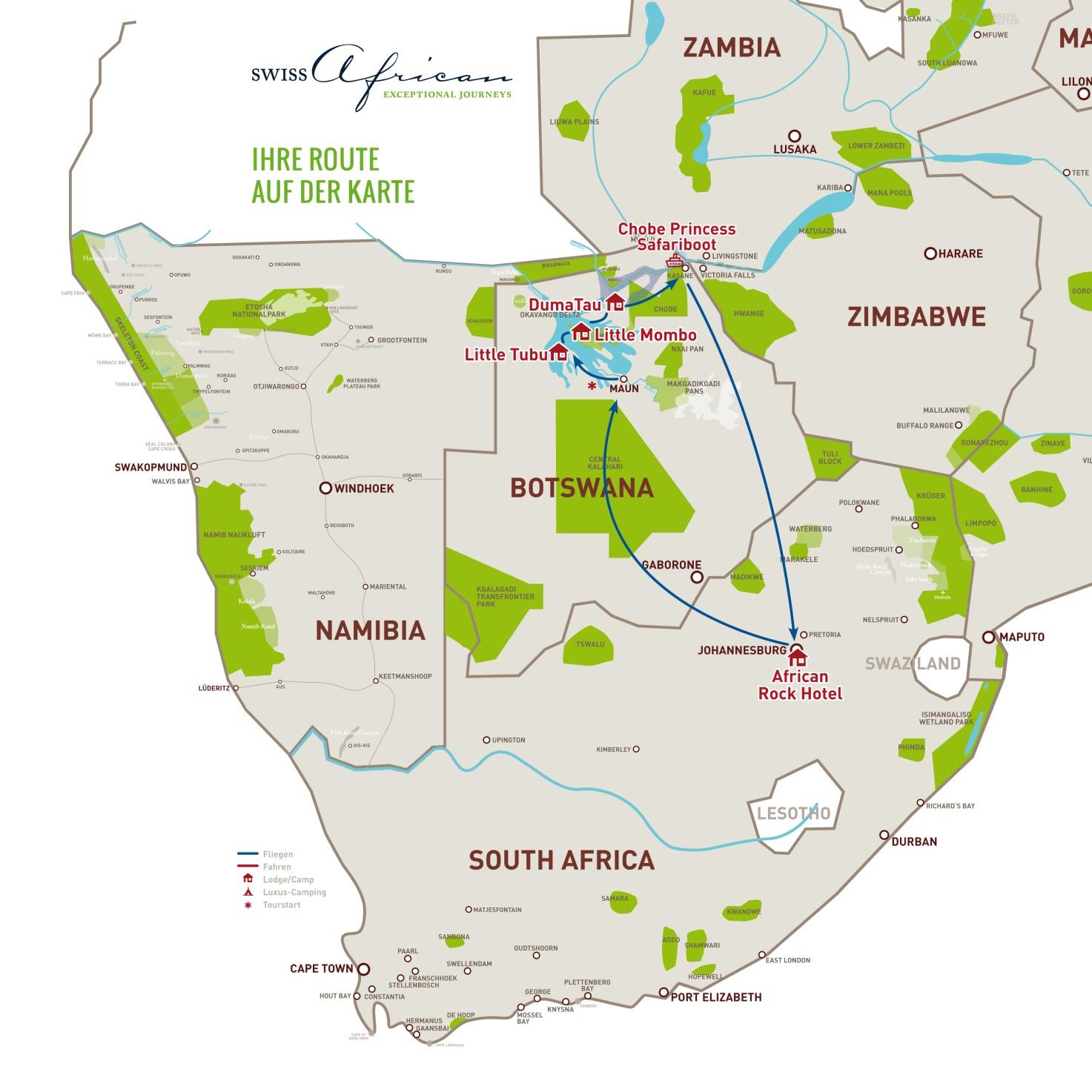 Botswana map 2016