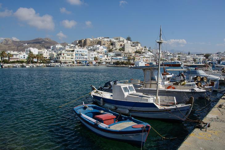 Naxos Kastro vom Hafen